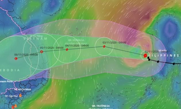 Тайфун Гони приближается к Восточному морю