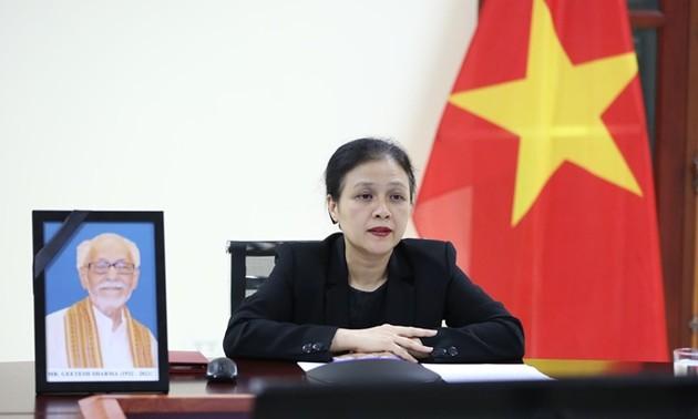 Прошла церемония почтения памяти большого индийского друга вьетнамского народа