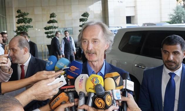 UN envoy arrives in Syria to push peace progress