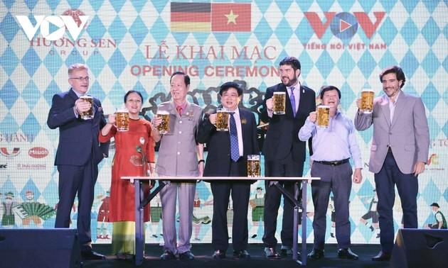Sampling German beer in Vietnam