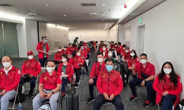 Đoàn Thể thao Việt Nam đã đến Nhật Bản tham dự Olympic Tokyo 2020