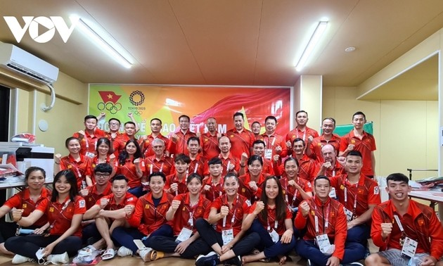 Vietnamese athletes participate in training ahead of Tokyo Olympics