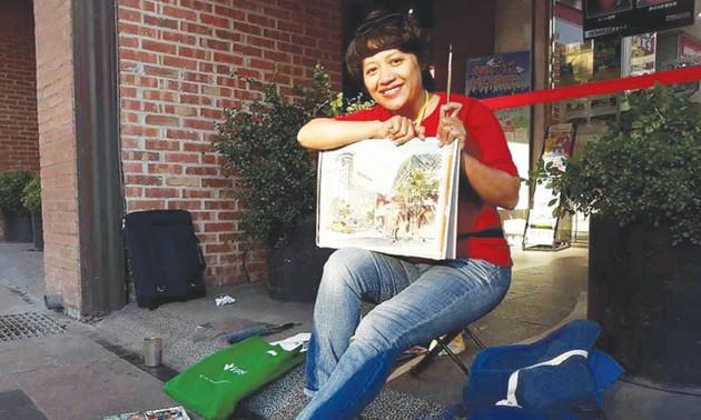 Female artist preserves Hanoi's beauty through sketches