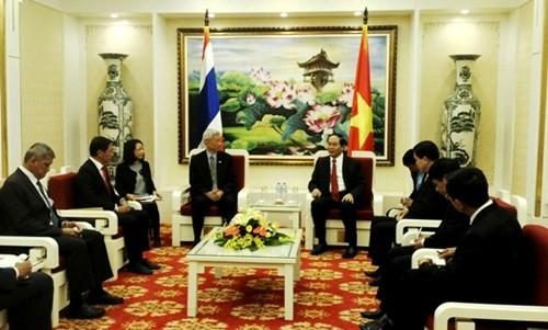 Bộ trưởng Bộ Công an Trần Đại Quang tiếp Đại sứ Thái Lan tại Việt Nam