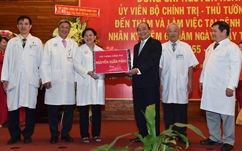 Thủ tướng Nguyễn Xuân Phúc thăm và làm việc tại Bệnh viện Chợ Rẫy