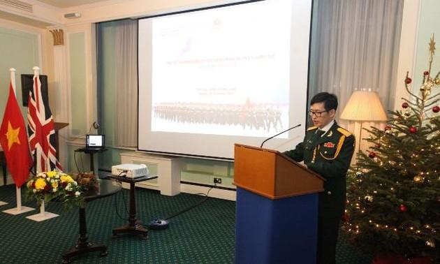 Kỷ niệm 75 năm Ngày thành lập Quân đội Nhân dân Việt Nam tại Vương quốc Anh
