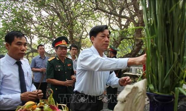 Truy điệu, an táng hài cốt liệt sĩ quân tình nguyện và chuyên gia Việt Nam hy sinh tại Lào