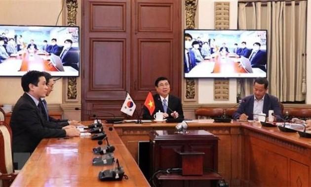 Thành lập tổ hợp tác liên ngành online thúc đẩy hợp tác song phương Thành phố Hồ Chí Minh - Busan, Hàn Quốc