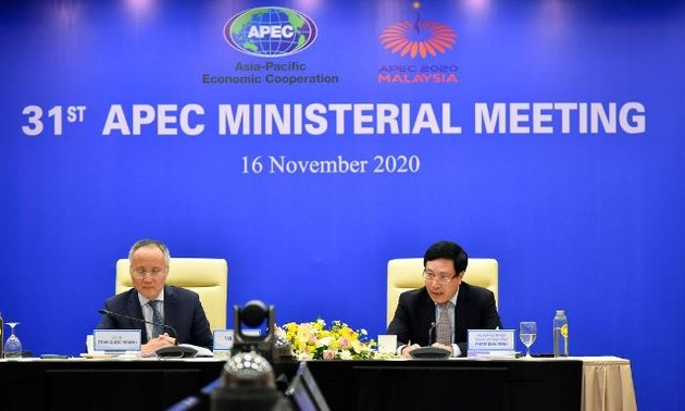 Việt Nam ủng hộ việc thông qua Tuyên bố của lãnh đạo APEC về Tầm nhìn sau 2020