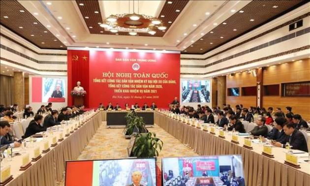 Hội nghị tổng kết công tác dân vận nhiệm kỳ đại hội XII của Đảng