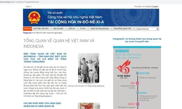 Khai trương trang chuyên đề kỷ niệm 65 năm quan hệ Việt Nam-Indonesia