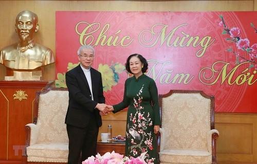 Trưởng ban Dân vận Trung ương Trương Thị Mai thông báo kết quả Đại hội Đảng Cộng sản Việt Nam lần thứ XIII