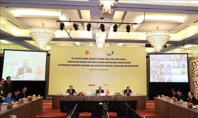 Cộng đồng quốc tế đánh giá cao phiên họp điểm nhấn tháng Chủ tịch Hội đồng bảo an của Việt Nam