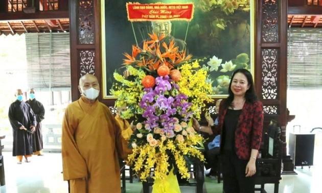 Phó Chủ tịch nước Võ Thị Ánh Xuân chúc mừng đại lễ Phật đản tại Đồng Nai