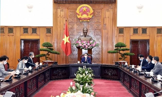Thủ tướng Chính phủ Phạm Minh Chính tiếp Đại sứ Nhật Bản tại Việt Nam Yamada Takio