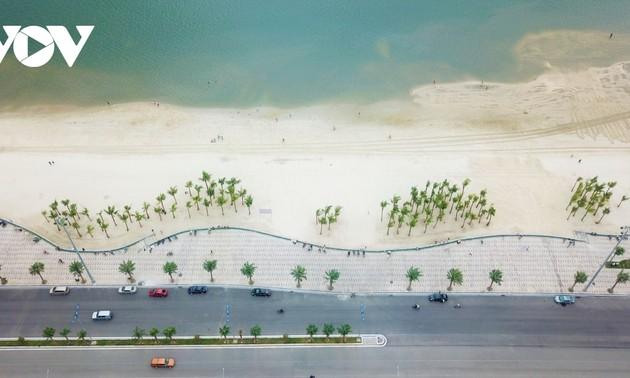 Bãi tắm mới trên đường bao biển Hạ Long sẽ khai trương dịp nghỉ lễ 30/4