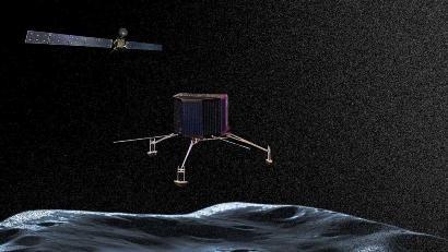 Robot espacial Philae aterriza en cometa en búsqueda de origen de la  vida