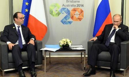Mandatarios de Rusia, Francia e Inglaterra analizan asuntos de Ucrania