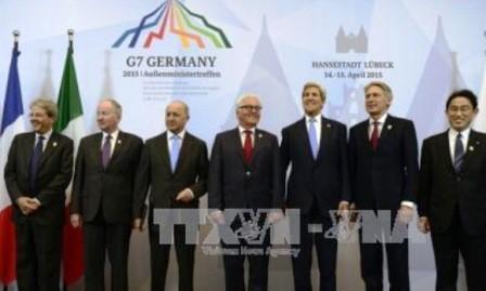 Cancilleres de G7 emiten Declaración sobre contenciosos mundiales
