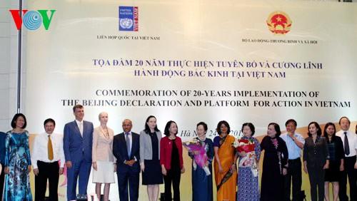 Celebra Vietnam 20 años del cumplimiento de Declaración y Plataforma de Acción de Beijing