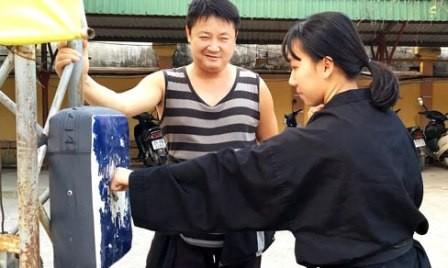 Energía vital de un invidente maestro de artes marciales