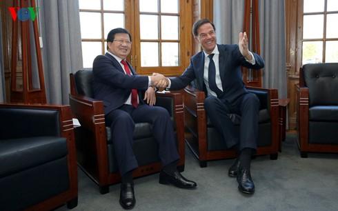 Vice primer ministro vietnamita se entrevista con el jefe de gobierno holandés