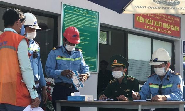 Localidades vietnamitas con puertos marítimos y parques industriales estrechan control del coronavirus