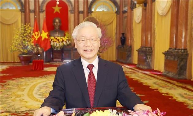 Líderes del mundo transmiten felicitación al secretario general del Partido Comunista de Vietnam