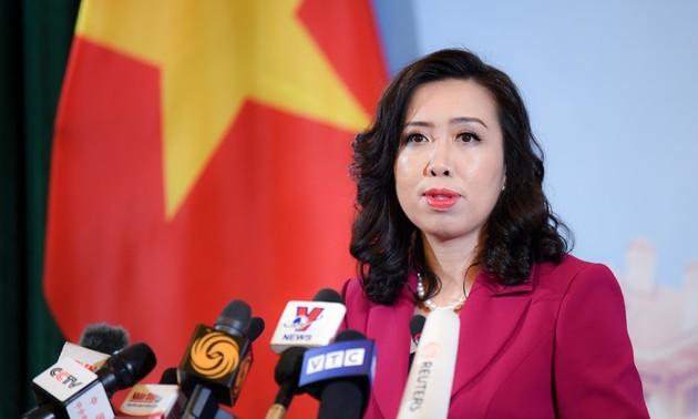 Vietnam apoya la solución de los litigios en el Mar del Este mediante procesos diplomáticos y judiciales
