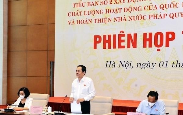 Instan a mejorar las actividades legislativas para la construcción del Estado de derecho socialista de Vietnam