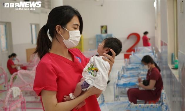 Centro HOPE, un techo para bebés de madres infectadas con covid-19 en Ciudad Ho Chi Minh