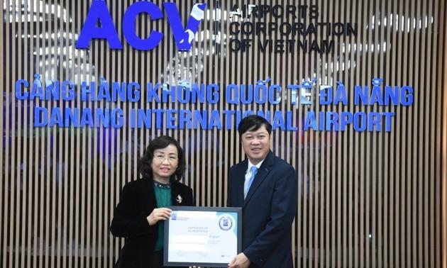 L'aéroport international de Da Nang recoit l'accréditation sanitaire AHA
