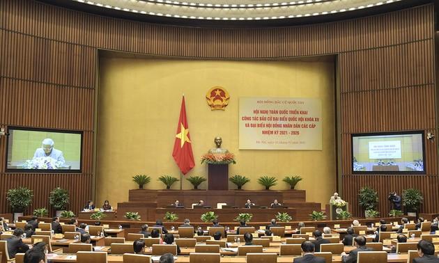 Visioconférence sur les élections à l'Assemblée nationale et aux conseils populaires