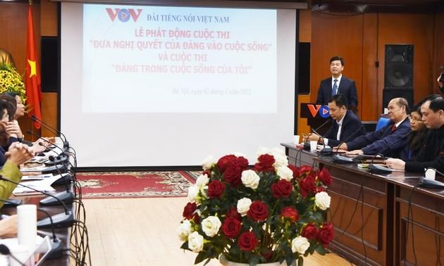 VOV: lancement du concours «Mise en œuvre des résolutions du Parti»
