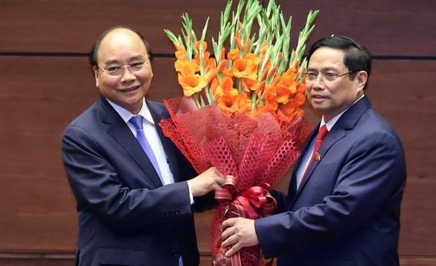 Messages de félicitations aux nouveaux dirigeants vietnamiens