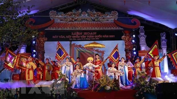Clôture du Festival national de chant van et châu van 2021