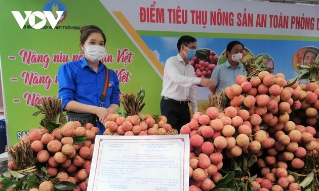 Mise en service du premier point d'aide à l'écoulement des produits agricoles pendant la pandémie