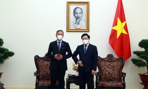 Le Vietnam et Singapour souhaitent renforcer la résilience de la sous-région du Mékong