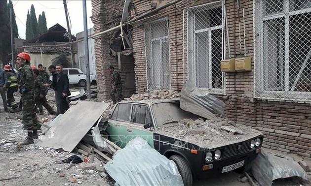 Azerbaijan sets condition for Nagorno-Karabakh cease-fire