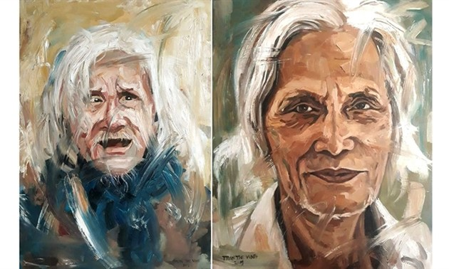 Portraits of Vietnam well-known artists on display
