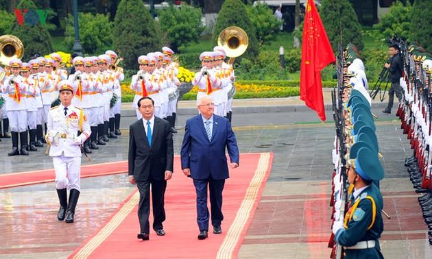 Báo chí Ai Cập và Israel đưa tin Tổng thống Reuven Ruvi Rivlin thăm Việt Nam