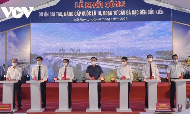 Chủ tịch Quốc hội dự Lễ khởi công Dự án cải tạo, nâng cấp Quốc lộ 10, TP Hải Phòng