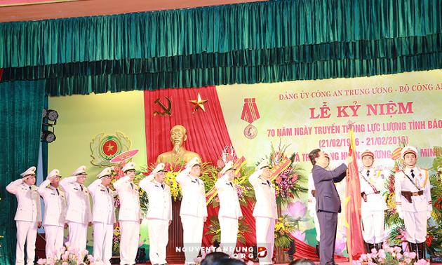 Thủ tướng  dự Lễ kỷ niệm 70 năm Ngày truyền thống lực lượng tình báo công an nhân dân
