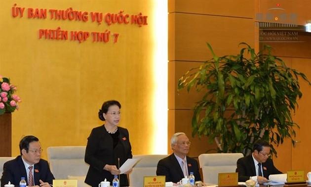 Bế mạc phiên họp thứ 7 Ủy ban Thường vụ Quốc hội