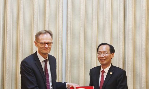 Thành phố Hồ Chí Minh tăng cường hợp tác với Phần Lan và Ai Cập