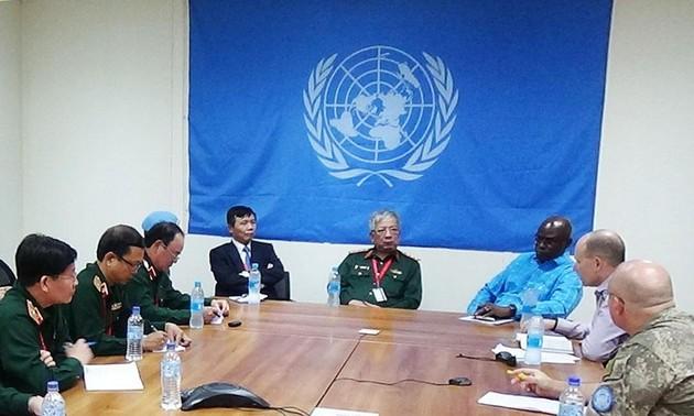Đoàn Tổ công tác liên ngành làm việc với các cơ quan của Phái bộ UNMISS tại Nam Sudan