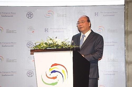 Thủ tướng Nguyễn Xuân Phúc và Thủ tướng Giuseppe Conte đồng chủ trì Diễn đàn Doanh nghiệp Italy – ASEAN