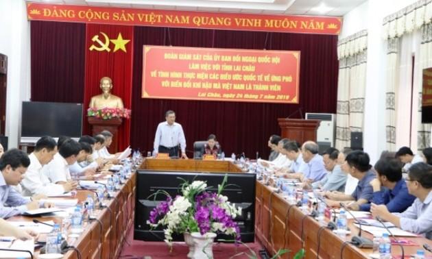 Đoàn giám sát của Ủy ban Đối ngoại của Quốc hội làm việc tại tỉnh Lai Châu