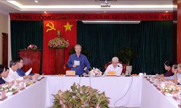 Thường trực Ban Bí thư Trần Quốc Vượng làm việc với tỉnh Bình Phước