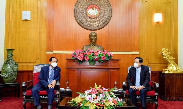 TW Mặt trận Tổ quốc Việt Nam tiếp nhận ủng hộ 5 tỷ đồng từ Đại sứ Hàn Quốc tại Việt Nam